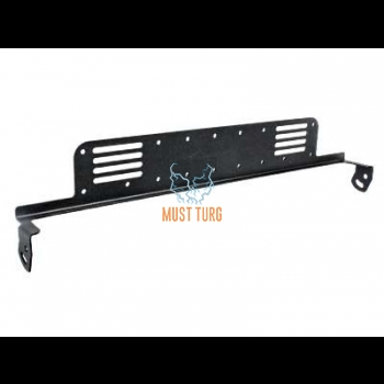 Auxiliary light frame for 585mm X-Vision Optima 12 lights behind the EU license plate