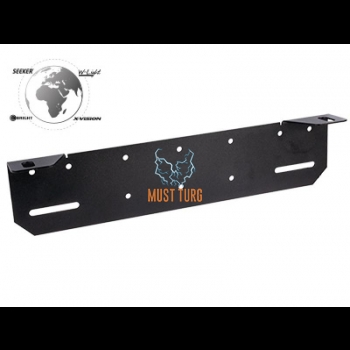 Additional light mounting behind the number plate 389mm (black)