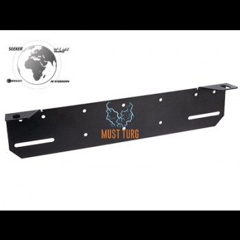 Additional light mounting behind the number plate 430mm (black)