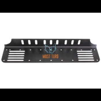 Additional light mounting behind the license plate on the EU plate black 430mm