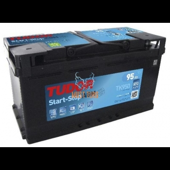 Car battery 95Ah 850A 351X174X190MM - / + AGM