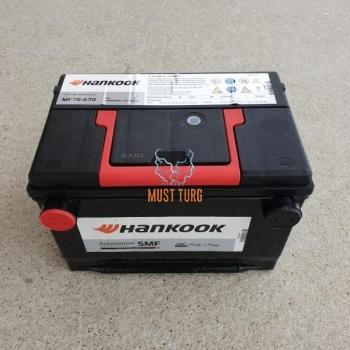 Car battery USA 75Ah 670 CCA 260X179X181mm +/- side Hankook warranty 24 months