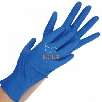 Nitrile gloves powder free Safe Premium thicker blue L 100pcs