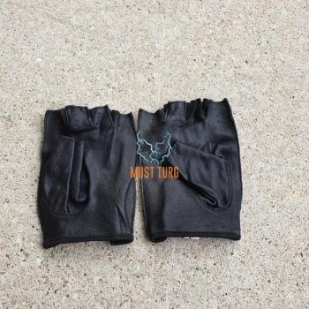 Leather gloves for men size L