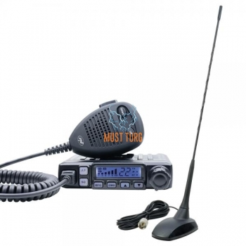 CB radio station PNI Escort 7120 with magnetic antenna 40 channels AM / FM power 4W