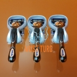 Gillette Fusion Proglide Flexball Razor, complete with 4 replacement blades (without packaging) 3pcs