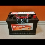 Car battery 72Ah 610A 277X174X190MM -/+ Hankook Garantii 24kuud