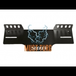 Attachment of extra lights behind license plate on EU plate aluminum (black) SEEKER