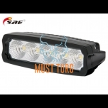 LED-töötuli, 9-36V, 25W, 2250lm, CE, 10R, RFI/EMC, IP68, must, SAE