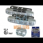 LED-päevatuled 12V, 5x1W led, RL E-markeeringuga, 1296