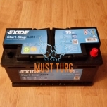 Car battery AGM 95Ah 850A 353X175X190MM -/+ Exide