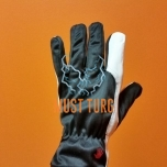 Work gloves black / white nylon / goatskin no.10