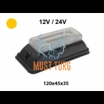Pindvilkur-LED 12-24V, kollane, 19 vilkumisrežiim, IP67, -482