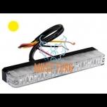 Pindvilkur-LED õhuke profiil 16mm 12-24V, kollane, 12 vilkumisrežiimi, ECE R65/R10