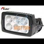 LED-töötuli, 9-36V, 30W, 2988lm, RFI/EMC-sertifikaat, IP68, SAE