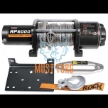 Winch with synthetic rope 2268kg 12V 3.8hp / 2.8kW IP67 Rock