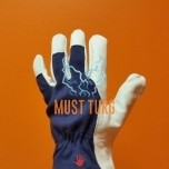 Work gloves blue / white cotton / goatskin no.8