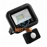 Led floodlight with motion sensor black 10W 4000K 800lm