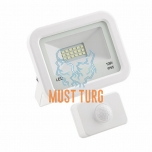 Led floodlight with motion sensor white 10W 800lm 4000K