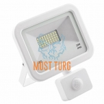 Led floodlight with motion sensor white 20W 1600lm 4000K