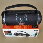 Portable bluetooth speaker radio FlexBox, moisture resistant, black