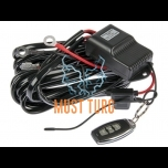 Wiring kit for two lights with remote control 12-24V max 300W