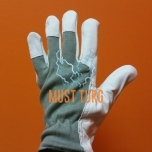 Working glove gray / white goatskin No.8