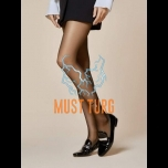 Patterned tights 20den black Fiore Pierre