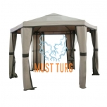 Garden tent with aluminum frame 180x180x180cm color beige brown