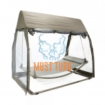 Swing with awning, steel frame 233x139xH205cm