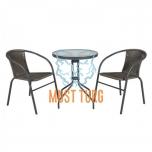 Komplekt laud ja 2 tooli