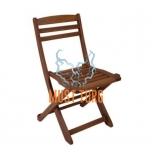 Puidust tool kokkupandav Rouen 47x53xH84cm