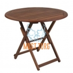 Wooden table Nantes folding D70xH74cm
