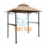 Shelter for grilling with steel frame 2,4x1,5m