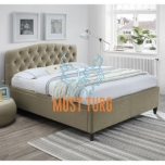 Bed Zeta 160x200cm with washer Beige without mattress