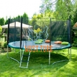 Trampoline with safety net D426cm green