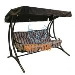 Garden swing Montreal 3-seater steel frame color: bronze
