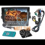 "HD digital screen 7 ""10-32V 4 channels"