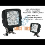 Led work light with reverse light marked 12-35V 17W 2400lm IP66/68