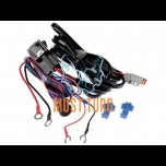 Wiring harness for single light with Deutch plug 12V max 320W