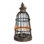 Lantern Venezia d21xh42cm antique brown metal