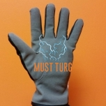 Working gloves in imitation leather black / gray fleece lining no.10