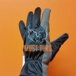 Working gloves in imitation leather black / gray fleece lining no.9 12pairs