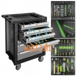 Tool trolley with 7 drawers and 169 tools JBM