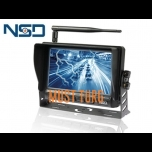 "Display 7 ""HD wireless 8-32V 1024x800px 4 Channel NSD"