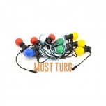 Party light line with colored 10 led lamp 3.7m IP44 24V CL001
