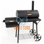 Charcoal BBQ grill with chimney 125x66x132cm