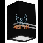 Wall light Kobi Quazar 11 black 230V max 11W IP44