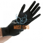Nitrile gloves with structured palm powder-free black size XL 50pcs
