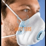 Dust mask FFP2 NR D with valve 10pcs